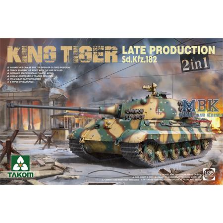 Sd.Kfz.182 King Tiger Late Production 2 in 1