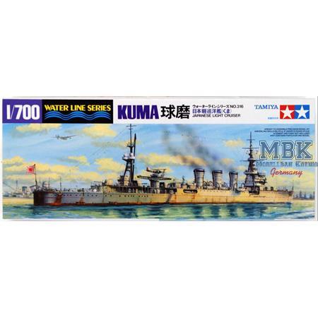 Kuma Japanischer leichter Kreuzer - Waterline