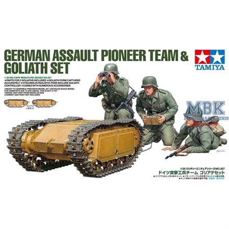 Deutsche Pioniere & Goliath Set (3 Fig. + 2 Fahrz)