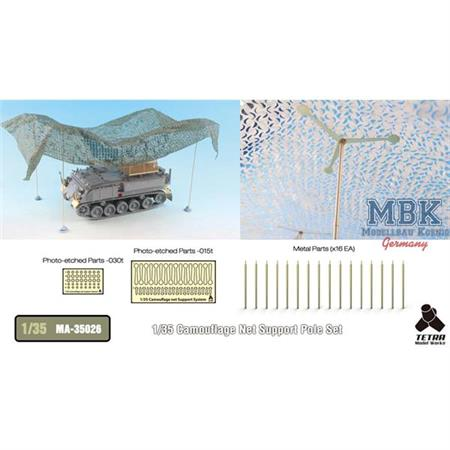 Camouflage Net support poles Set