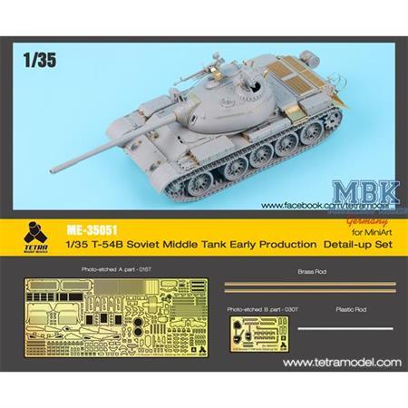 T-54B Russian Tank, early (Miniart) Detail up Set