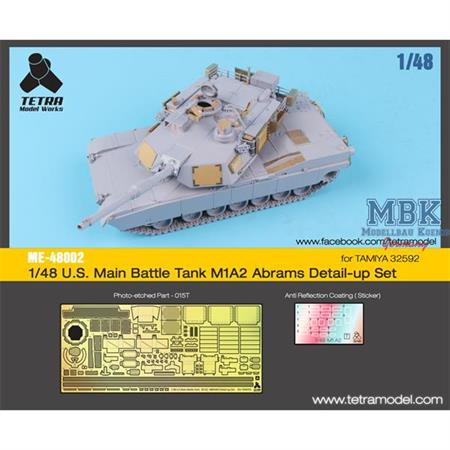 US Main Battle Tank M1A2 Abrams Detail-up Set