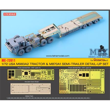 M983A2 tractor & M870A1 semi-trailer detail set