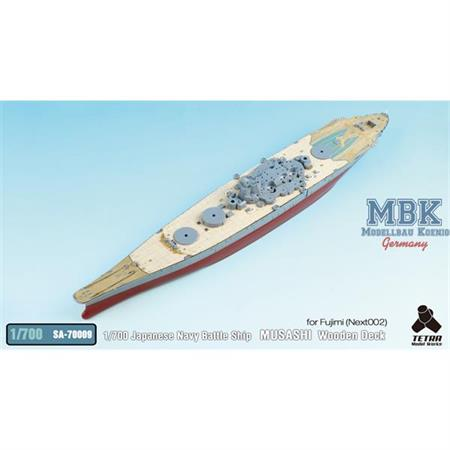 Japanese Navy Battle Ship MUSASHI Wooden Deck