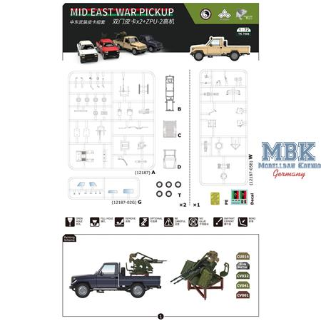 Mid East War pickup + ZPU-2