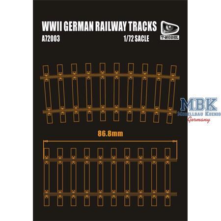 German Railway Tracks - 70cm long (Double Pack)