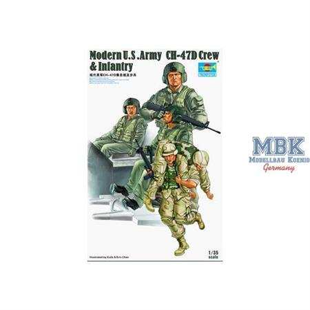 US Army CH-47D Crew & Infantry