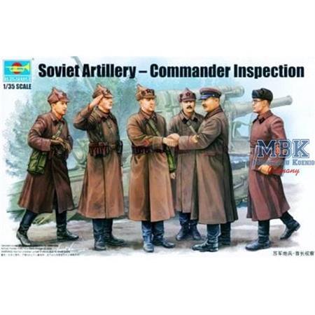 Sov. Artillery - Commander Inspection