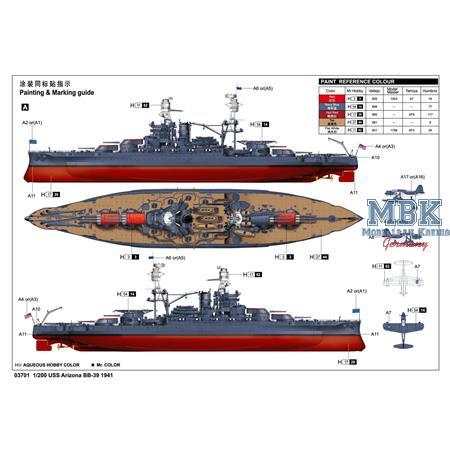 US Navy Schlachtschiff Arizona BB-39 (1:200)