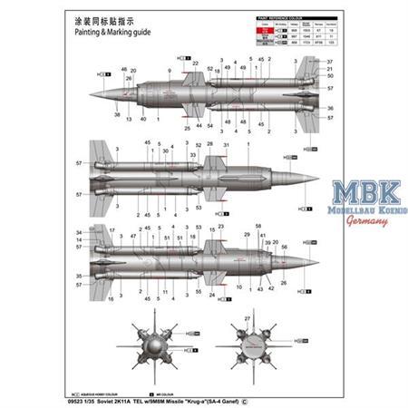 "2K11A TEL w/9M8M Missile ""Krug-a""(SA-4 Ganef)"
