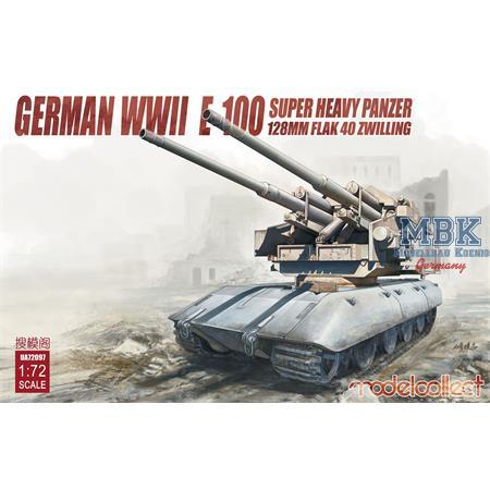 E-100 Super heavy Panzer 128mm Flak 40 Zwilling