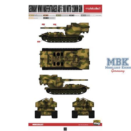 E-100 Panzer Weapon Carrier with 128mm gun
