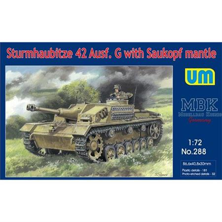 Sturmhaubitze 42 Ausf. G w. Saukopf Mantlet