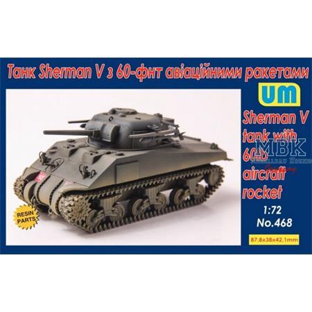 Sherman V tank with 60lb aircraft rocket