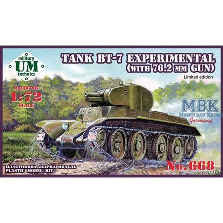 BT-7 experimental tank with 76,2mm gun