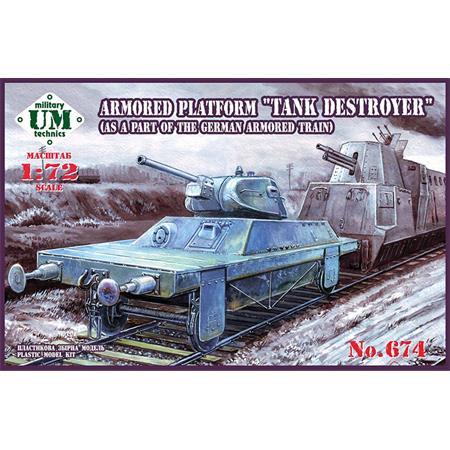 "Armored platform wagon ""Tank destroyer"""