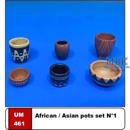 African/Asian Pots Set #1