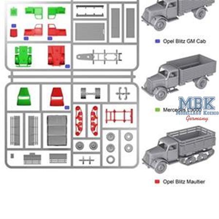 German Medium Trucks (3 Stück)