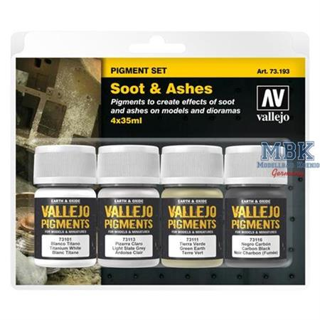"""Vallejo Pigment Set """"Soot & Ashes"""""""