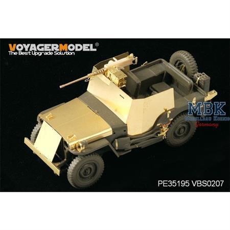U.S. Jeep Willys MB w/Add Amour (For TAMIYA 35219)