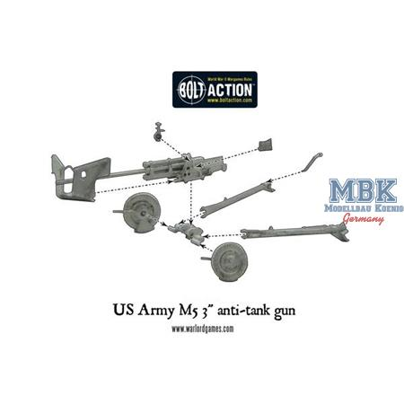 "Bolt Action: US Army M5 3"" anti-tank"