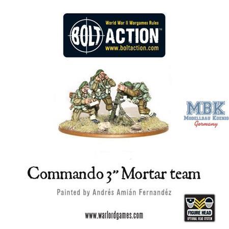 "Bolt Action: British Commando 3"" Mortar Team"