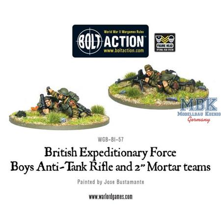 "Bolt Action: BEF anti-tank rifle and 2"" mortar"