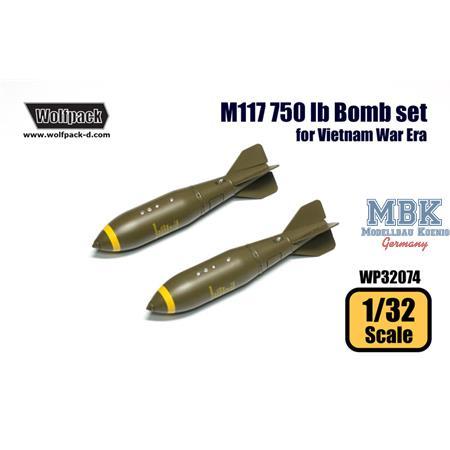 M117 750 lb Bomb set (for Vietnam War Era)