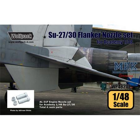 Su-27/30 Flanker AL-31F Engine Nozzle set
