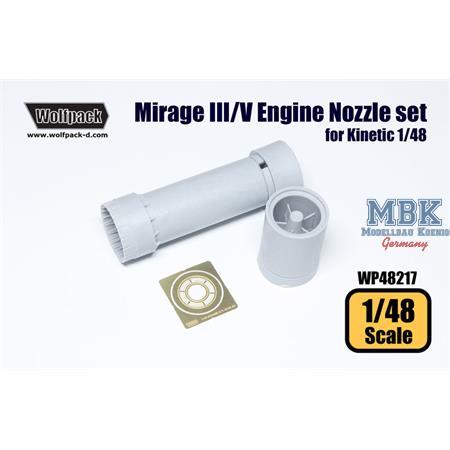 Mirage III/V ATAR 9C Engine Nozzle set