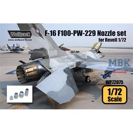 F-16 F100-PW-229 Engine Nozzle set