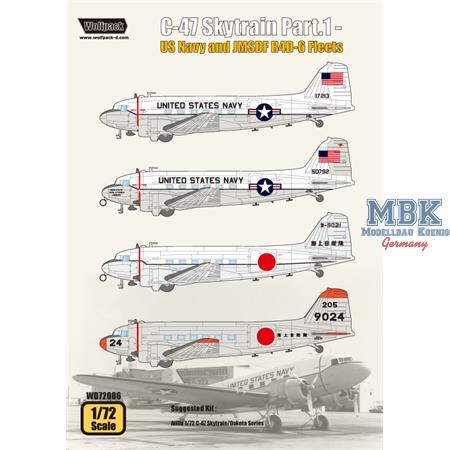 C-47 Skytrain Part.1 - US Navy and JMSDF R4D-6