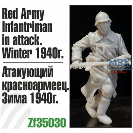 Red Army Infantryman in attack, Winter 1940