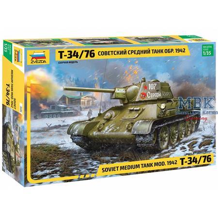 T-34/76 mod. 1942 Hexagonal Turret  1/35