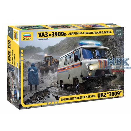 UAZ 3909 Emergemcy Service 1/43