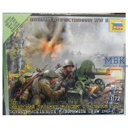 1:72 WWII  Sov. MG Trupp (2 Trupps)