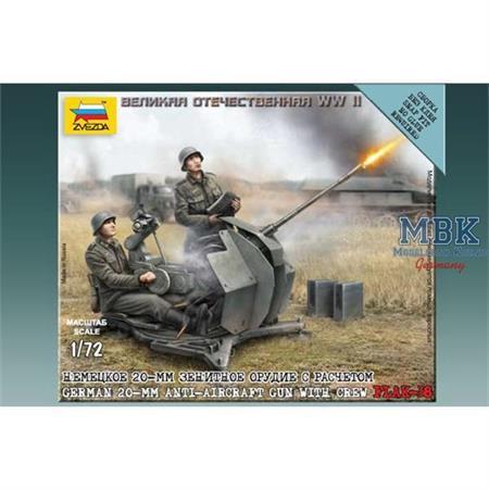 1:72 WWII  2cm Flak 38