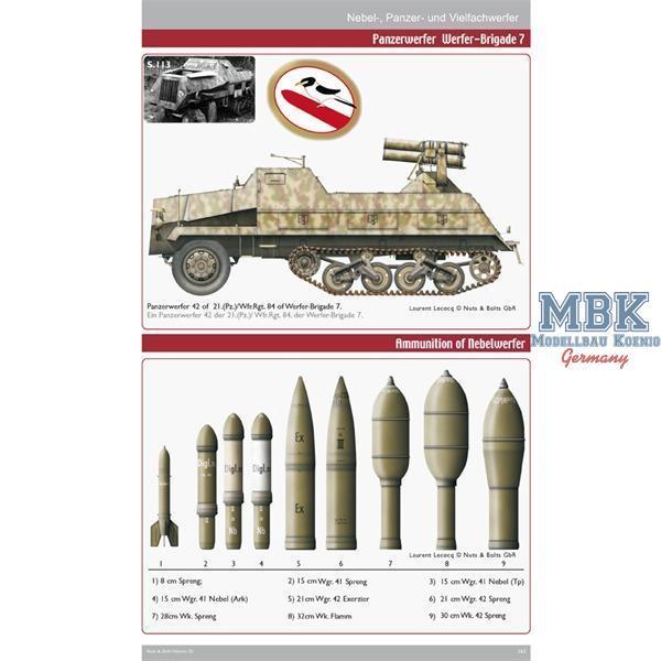 Panzer Nebel- und Vielfachwerfer Nuts/&Bolts 30 Nebelwerfer Modellbau//Buch