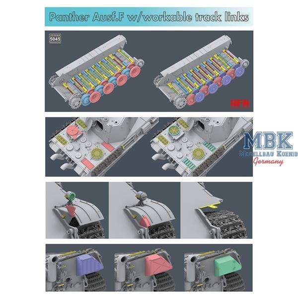 Ryefield 1//35 Sd.Kfz.171 Panther Ausf F w// workable track links