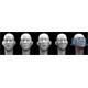 5 different Asian bald Heads