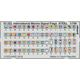 International Marine Signal Flags STEEL 1/700