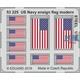 US Navy ensign flag modern STEEL   1/700