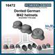 Dented german M42 helmets