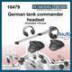 German tank commander cap, headphones and microph.