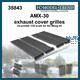 AMX-30 exhaust mesh protectors