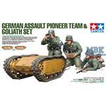 Deutsche Pioniere & Goliath Set (3 Fig. + 2 Fahrz)